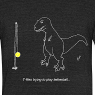 Design ~ T-Rex Tetherball White Design (Am Apparel)