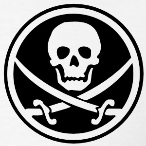 pirate skull emblem T-Shirts - Men's T-Shirt