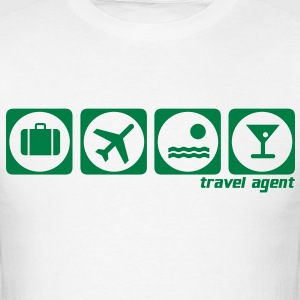 holiday white t-shirt travel agent - Men's T-Shirt