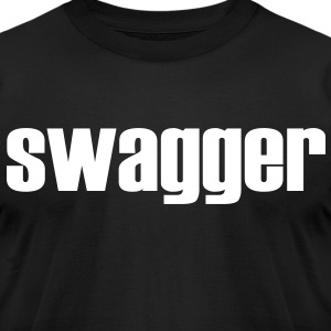 Black Swagger T-Shirt - Men's T-Shirt by American Apparel