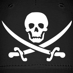 pirate skull saber Caps - Baseball Cap