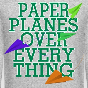 Paper Planes Long Sleeve Shirts - Crewneck Sweatshirt