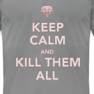 KEEP CALM AND KTA T-Shirts - Men's T-Shirt by American Apparel