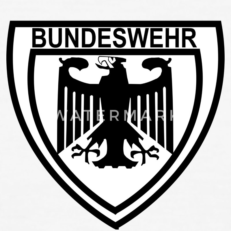 White/black bundeswehr_adler T-Shirts - Men's Ringer T-Shirt