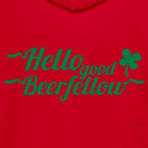 hello good beerfellow St Patricks day design with a shamrock Zip Hoodies/Jackets - Unisex Fleece Zip Hoodie by American Apparel