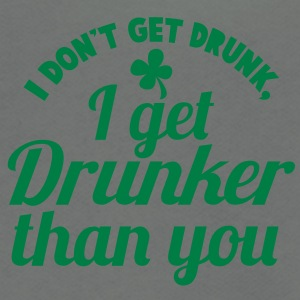 I Dont get DRUNK, I get DRUNKER than you! Shamrock Zip Hoodies/Jackets - Unisex Fleece Zip Hoodie by American Apparel
