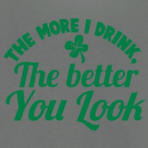 THE MORE I DRINK, The better you look! with a shamrock Zip Hoodies/Jackets - Unisex Fleece Zip Hoodie by American Apparel