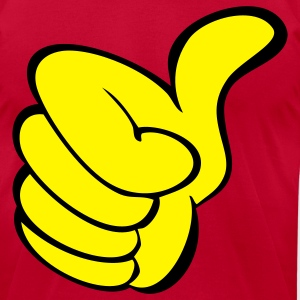 thumbs up ok - Men's T-Shirt by American Apparel