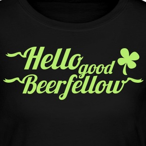 hello good beerfellow St Patricks day design with a shamrock Long Sleeve Shirts - Women's Long Sleeve Jersey T-Shirt
