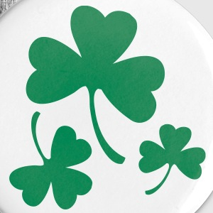 3 Shamrocks Buttons - Large Buttons