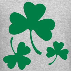 Three Green Shamrocks Long Sleeve Shirts - Crewneck Sweatshirt