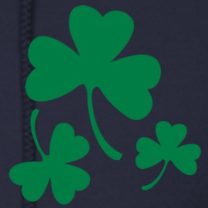 Three Green Shamrocks Zip Hoodies/Jackets - Men's Zip Hoodie