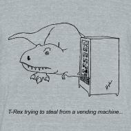 Design ~ T-Rex Trying Vending Machine (Am Apparel)