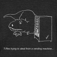 Design ~ T-Rex Vending Machine White Design (Am Apparel)