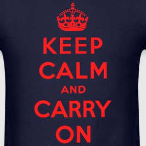 Keep Calm and Carry On T-Shirt - Men's T-Shirt