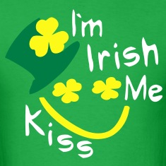 Kiss Me I'm Irish shamrock st.patrick's day Men's Standard Weight T-Shirt