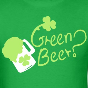Green Beer ? shamrock st.patty's day Men's Standard Weight T-Shirt - Men's T-Shirt