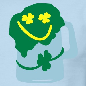 Green beer shamrock Men's Ringer T-Shirt by American Apparel - Men's Ringer T-Shirt