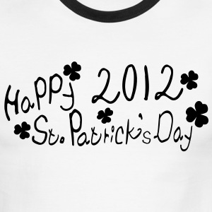 Happy 2012 st.patrick's day Men's Ringer T-Shirt by American Apparel - Men's Ringer T-Shirt