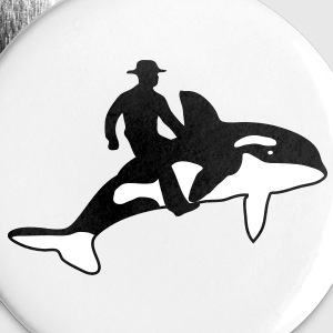 Orca Rider Buttons - Large Buttons