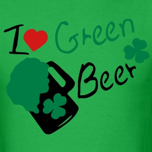I heart green beer shamrock st.patty's day Men's Standard Weight T-Shirt - Men's T-Shirt