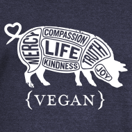 Design ~ Women's wideneck - pig Words to Live By
