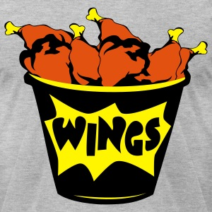 chicken wings  - Men's T-Shirt by American Apparel