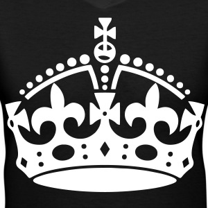Keep Calm Crown Women's T-Shirts - stayflyclothing.com - Women's V-Neck T-Shirt