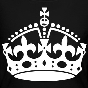 Keep Calm Crown - stayflyclothing.com - Women's Long Sleeve Jersey T-Shirt