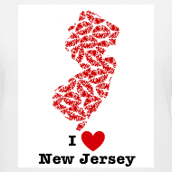 Design ~ I Love New Jersey V-Neck