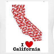 Design ~ I Love California V-Neck