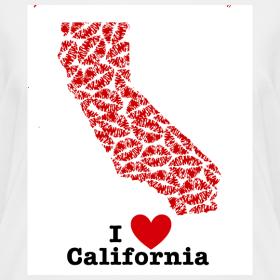 Design ~ I Love California V-Neck