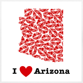 Design ~ I Love Arizona V-Neck
