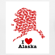 Design ~ I Love Alaska V-Neck