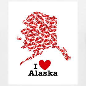 Design ~ I Love Alaska V-Neck
