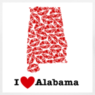 Design ~ I Love Alabama V-Neck