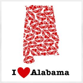 Design ~ I Love Alabama V-Neck