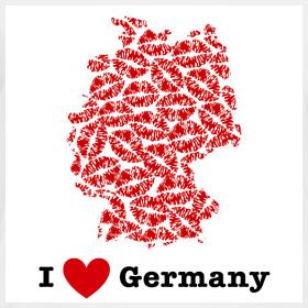 Design ~ I Love Germany V-Neck