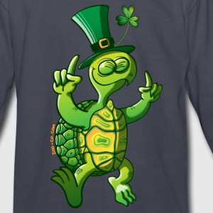 Saint Patrick's Day Turtle Kids' Shirts - Kids' Long Sleeve T-Shirt