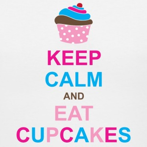 Keep Calm and Eat Cupcakes Women's T-Shirts - Women's V-Neck T-Shirt