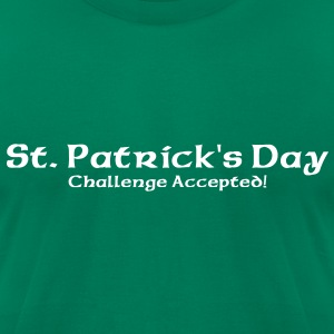 St. Patrick's Challenge Accepted T-Shirts - Men's T-Shirt by American Apparel