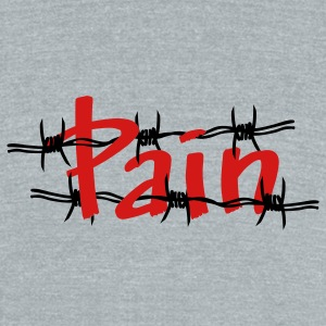 Grey pain - Unisex Tri-Blend T-Shirt by American Apparel