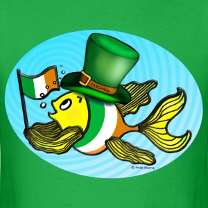 Irish flag fish fabspark Ireland lucky in Ellipse  - Men's T-Shirt