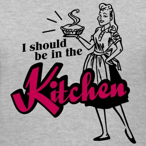 I should be in the kitchen Women's T-Shirts - Women's V-Neck T-Shirt