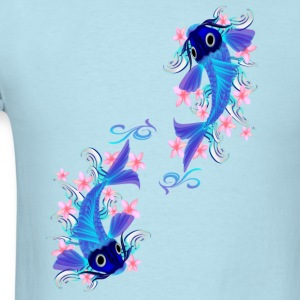 Two Blue Koi  - Men's T-Shirt