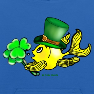 Happy St Patrick's Day  Fish, Goldfish - Kids' Hoodie