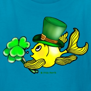 Happy St Patrick's Day  Fish, Goldfish - Kids' T-Shirt
