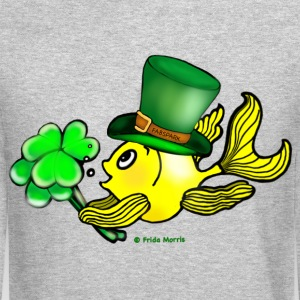 Happy St Patrick's Day  Fish, Goldfish - Crewneck Sweatshirt