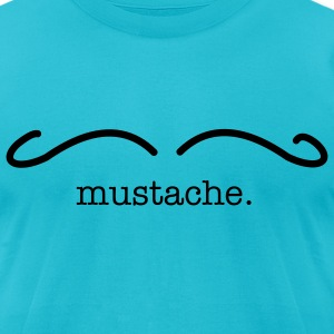 mustache - Men's T-Shirt by American Apparel