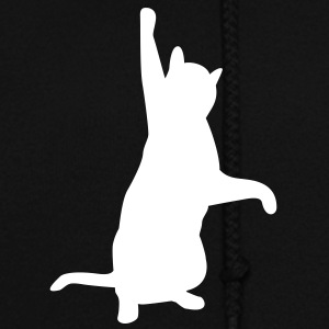 Cat playing with cord of hoodie - Women's Hoodie